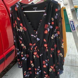 Express midi floral dress